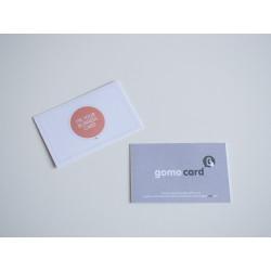Cartão de visita em papel com NTAG203 - Amostra