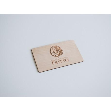 Cartão Key Card NFC NTAG®213 em Madeira