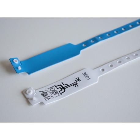 Pulseira RFID/NFC de PVC, Ajustável e Personalizada