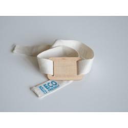 Pulseira RFID/NFC de Tecido Eco + Madeira - Personalizável