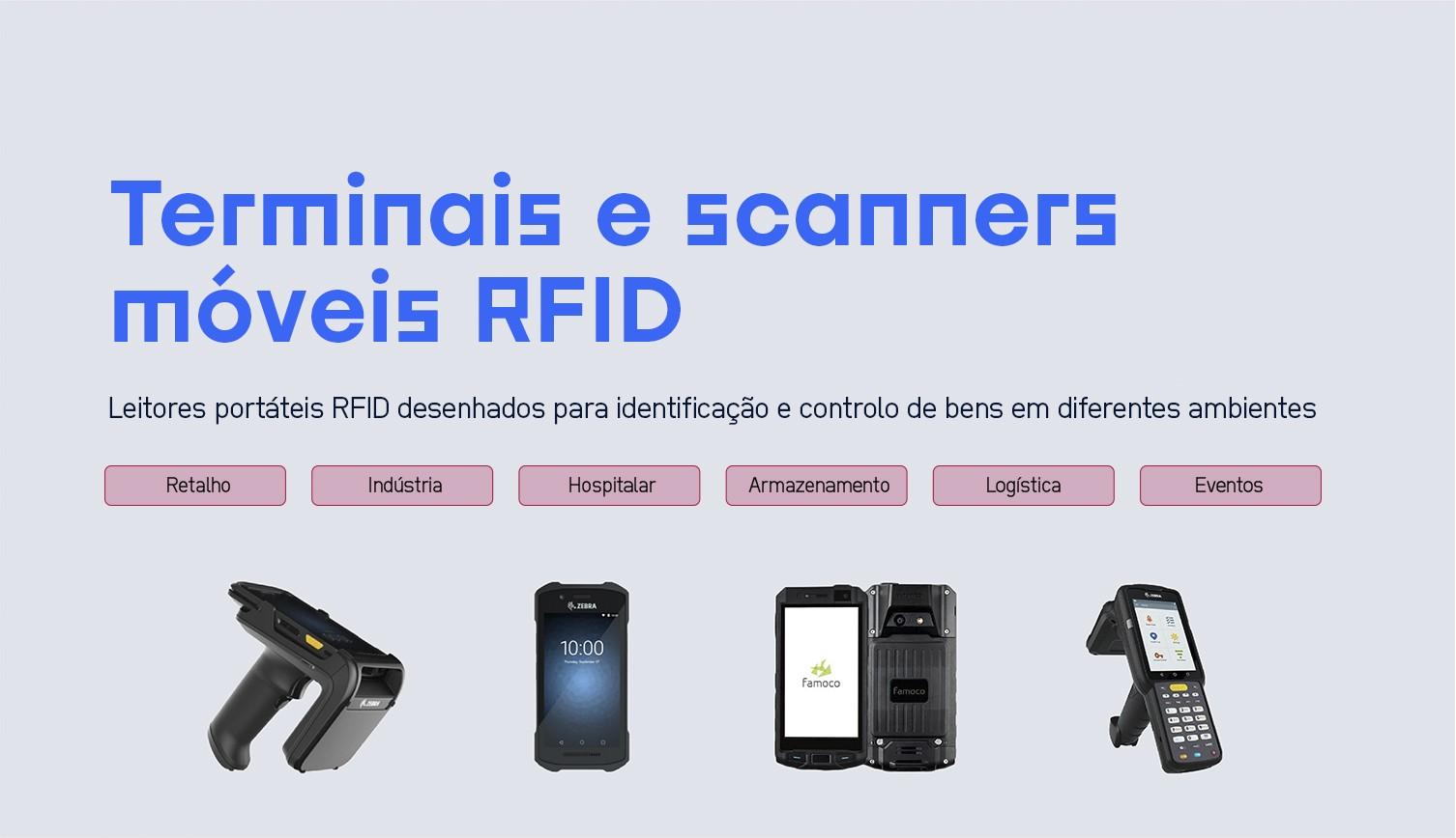 Terminais e scanners RFID